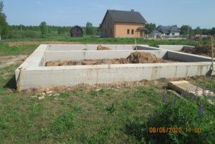 Строительство дома по проекту С-144М, д. Шабаново